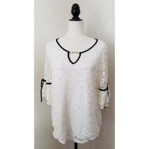 ONYX Apparel Lacey Top Bell Sleeves 1X